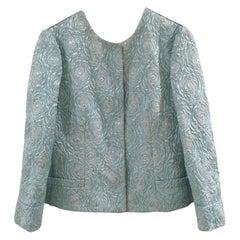 Dolce & Gabbana turquoise wool jacket