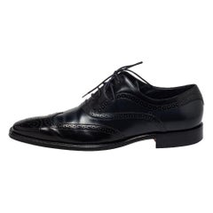 Dolce & Gabbana Two Tone Brogue Leather Cap Toe Lace Up Oxford Size 44