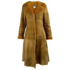 Dolce & Gabbana Vintage D&G Distressed Sheepskin Shearling Coat