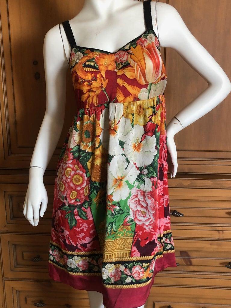 Dolce & Gabbana Vintage Silk Floral Babydoll Dress  1
