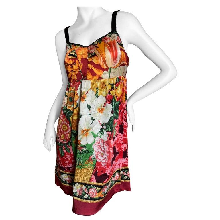 Dolce & Gabbana Vintage Silk Floral Babydoll Dress