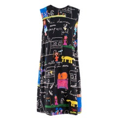 Dolce & Gabbana Viva la Familia Print Shift Dress  46 L