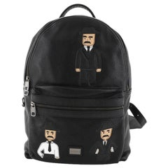 Dolce & Gabbana Vulcano Backpack Leather with Applique