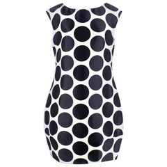 Dolce & Gabbana White and Navy Polka Dot Dress - Size L