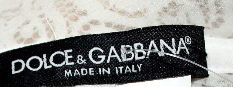Women's Dolce & Gabbana White Corset Lace Silk Eyelet Dress For Sale