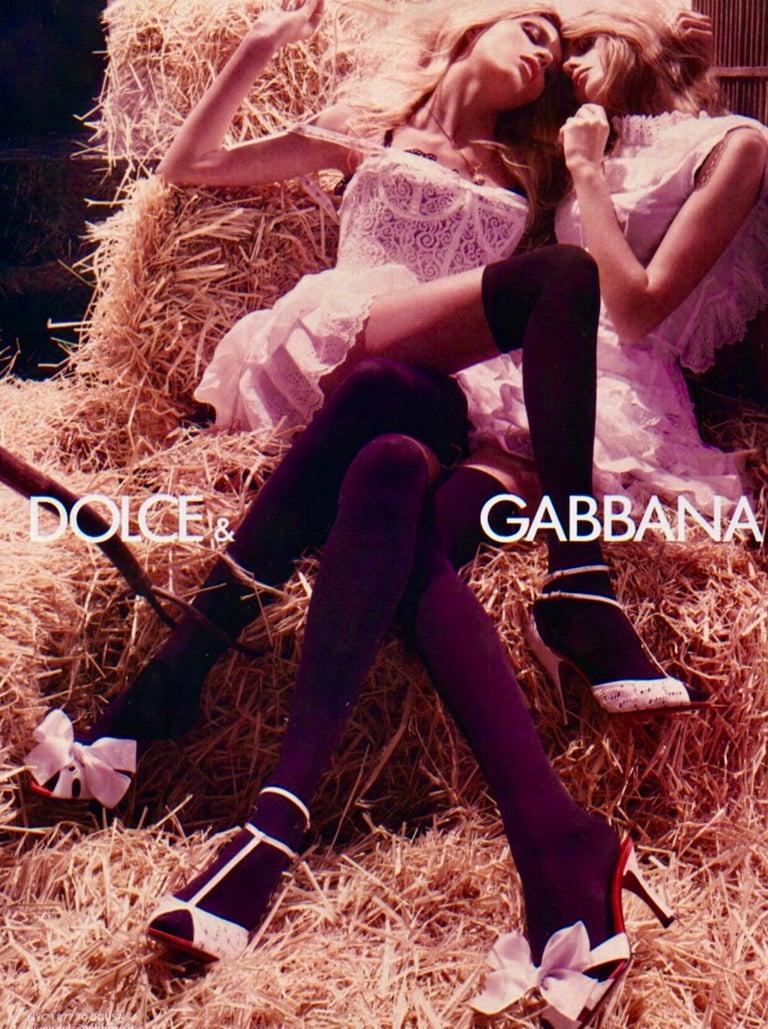 Dolce & Gabbana White Corset Lace Silk Eyelet Dress For Sale 2