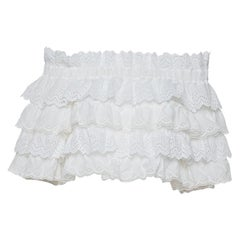 Dolce & Gabbana White Crochet Off Shoulder Crop Top M