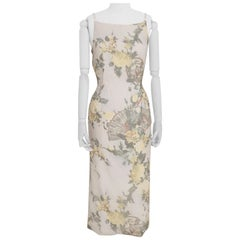 Dolce & Gabbana white flower print dress