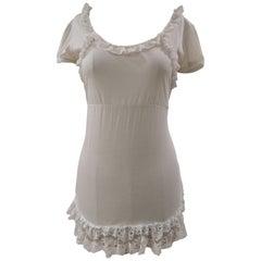 Dolce & Gabbana white lace cotton t-shirt