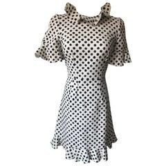 Dolce & Gabbana White Polka Dot Dress Size  38