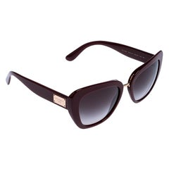 Dolce & Gabbana Wine Red/ Grey Gradient DG 4296 Cat Eye Sunglasses