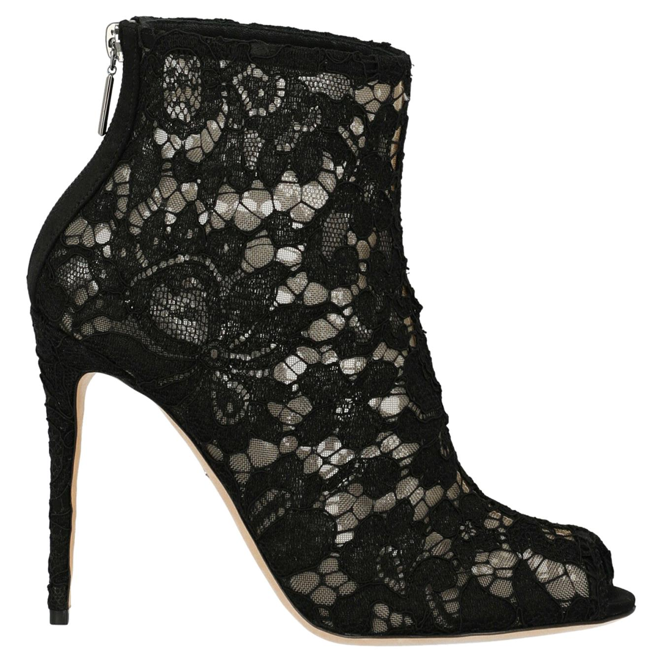 Dolce & Gabbana Woman Ankle boots Beige, Black IT 37