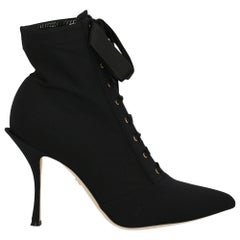 Dolce & Gabbana Woman Ankle boots Black Synthetic Fibers IT 40