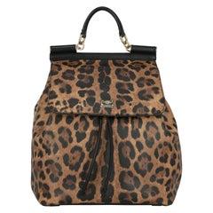 Dolce & Gabbana Woman Backpacks Sicily Black Leather