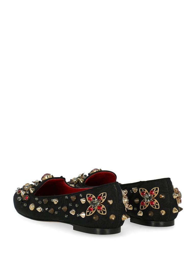 Dolce & Gabbana Woman Ballet flats Black, Multicolor IT 35 In Excellent Condition For Sale In Milan, IT