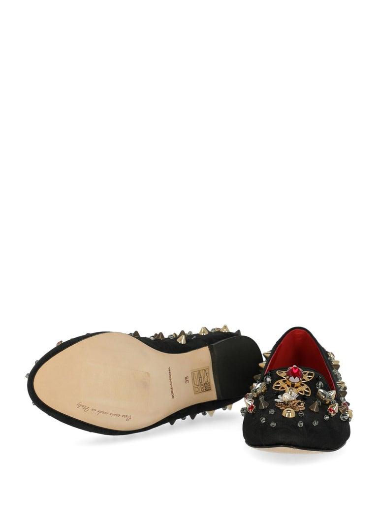 Dolce & Gabbana Woman Ballet flats Black, Multicolor IT 35 For Sale 1