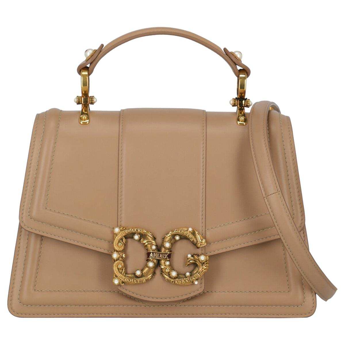 Dolce & Gabbana Woman Handbag Beige Leather