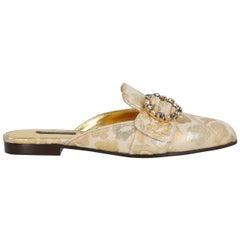 Dolce & Gabbana Woman Mules Beige, Gold IT 37