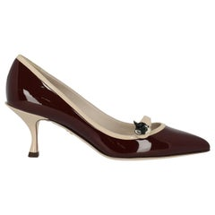 Dolce & Gabbana Woman Pumps Beige, Burgundy EU 37