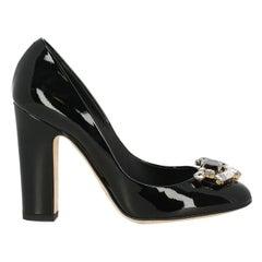 Dolce & Gabbana Woman Pumps Black Leather IT 36.5