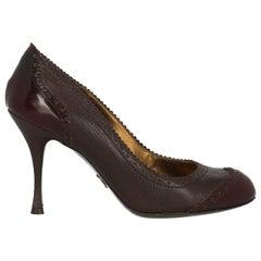 Dolce & Gabbana Woman Pumps Brown Leather IT 36.5