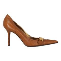 Dolce & Gabbana Woman Pumps Camel Color Leather IT 39.5