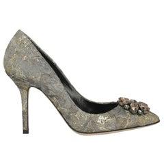 Dolce & Gabbana Woman Pumps Gold Fabric IT 38