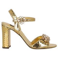 Dolce & Gabbana Woman Pumps Gold Leather IT 38
