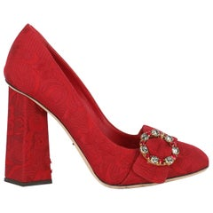 Dolce & Gabbana Woman Pumps Red Fabric IT 39
