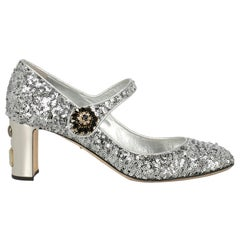Dolce & Gabbana Woman Pumps Silver Leather IT 39