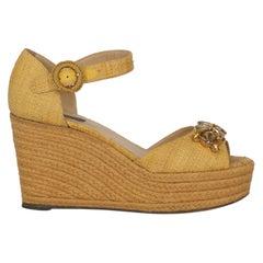 Dolce & Gabbana Woman Sandals Camel Color Eco-Friendly Fabric IT 38