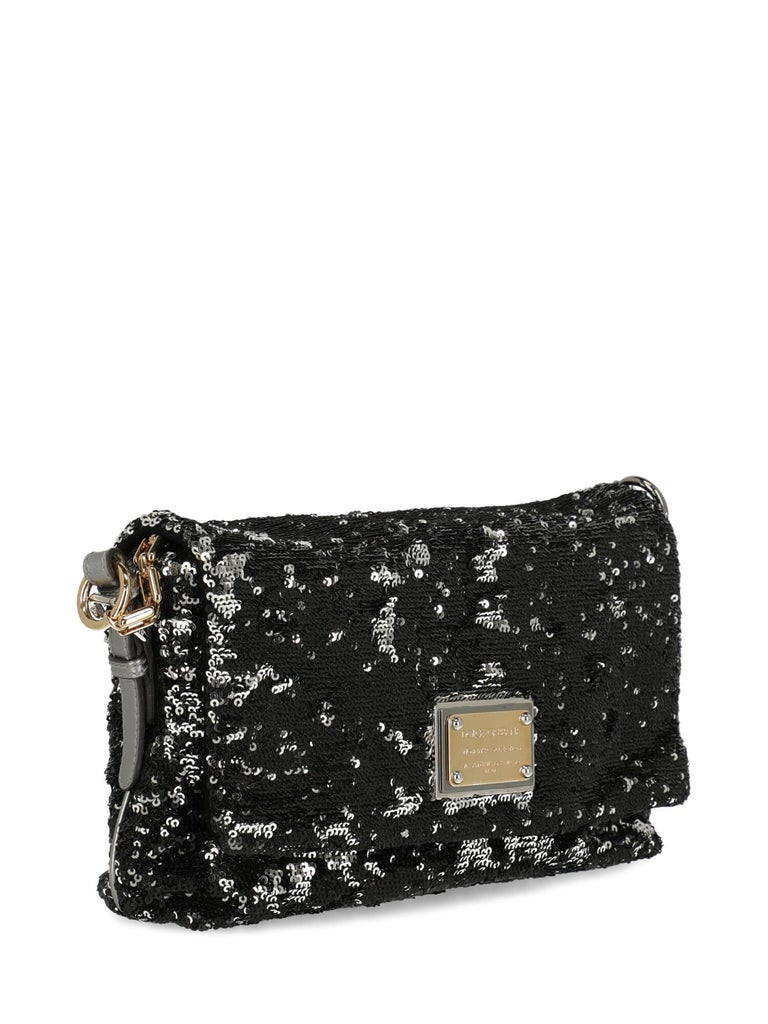 Dolce & Gabbana Woman Shoulder bag Black, Silver  In Good Condition For Sale In Milan, IT