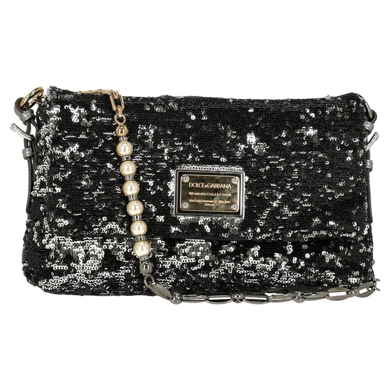 Dolce & Gabbana Woman Shoulder bag Black, Silver  For Sale
