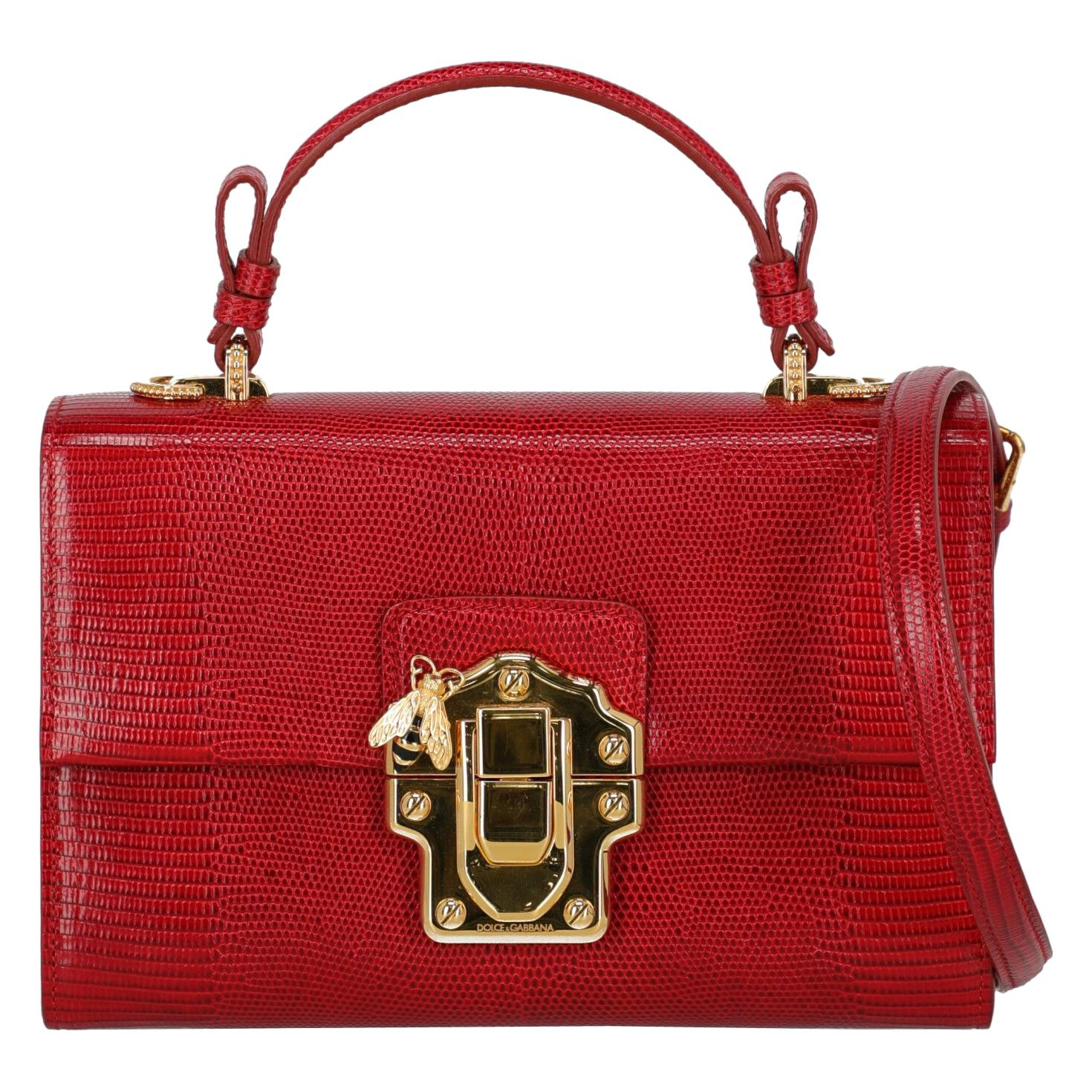 Dolce & Gabbana Woman Shoulder bag Lucia Red Leather