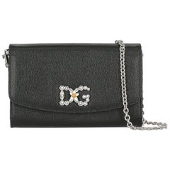 Dolce & Gabbana Woman Shoulder bag Wallet On Chain Black Leather
