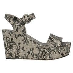 Dolce & Gabbana Woman Wedges Beige Leather IT 37