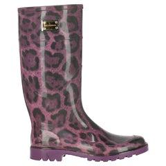 Dolce & Gabbana  Women Boots  Black, Purple Synthetic Fibers EU 39