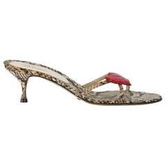 Dolce & Gabbana  Women   Mules  Beige, Black, Red Leather EU 39