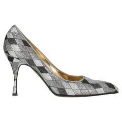 Dolce & Gabbana  Women   Pumps  Black, Silver Synthetic Fibers EU 39.5