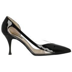 Dolce & Gabbana  Women   Pumps  Black, Transparent Leather EU 40.5