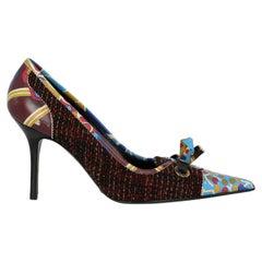 Dolce & Gabbana  Women   Pumps  Burgundy, Multicolor Fabric EU 39.5