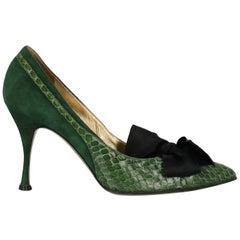 Dolce & Gabbana  Women   Pumps  Green Leather EU 39
