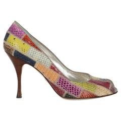 Dolce & Gabbana  Women Pumps  Multicolor Leather EU 38
