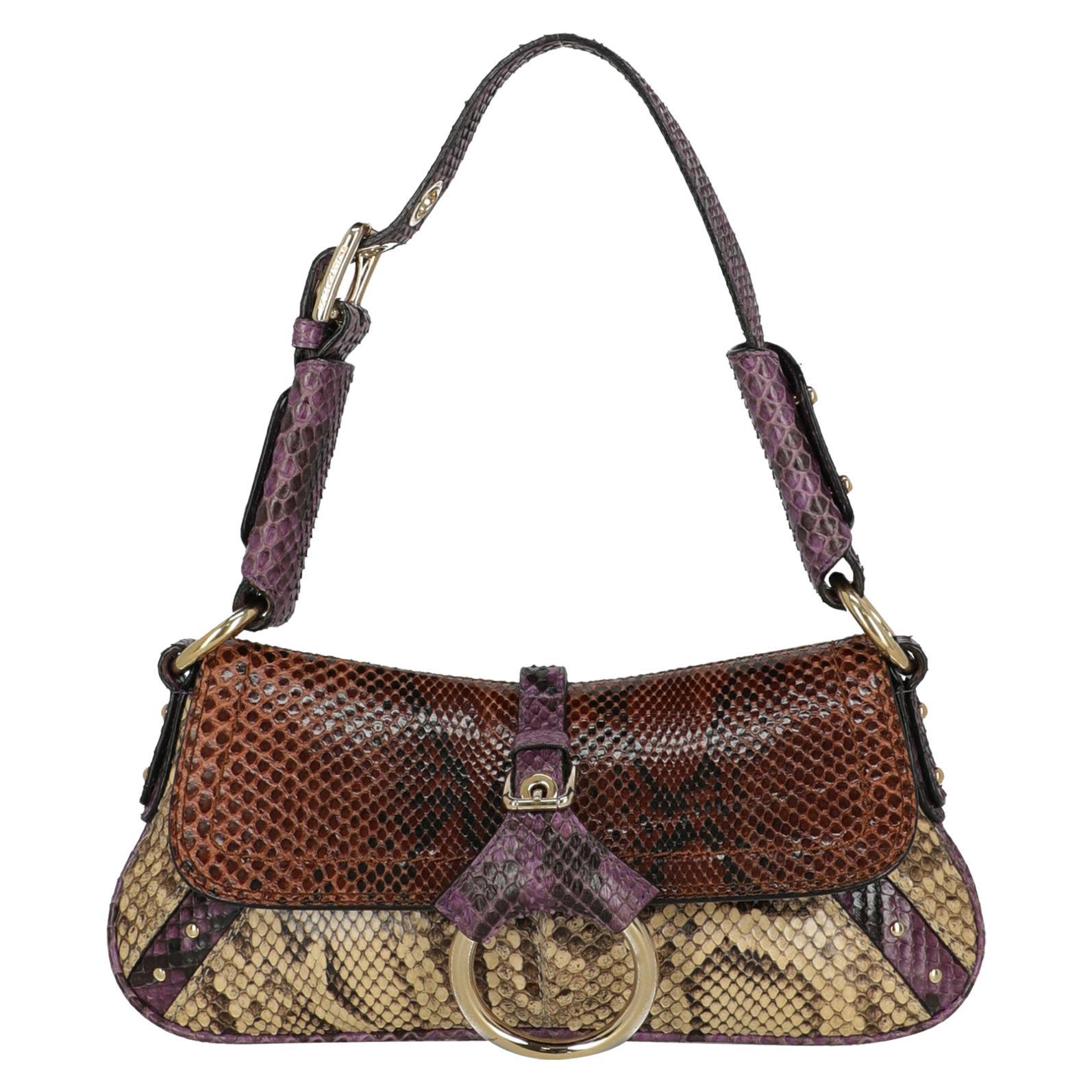 Dolce & Gabbana  Women   Shoulder bags  Beige, Brown, Purple Leather