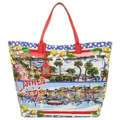 Dolce & Gabbana Women Tote Canvas Cannes red BB6191-B9F57