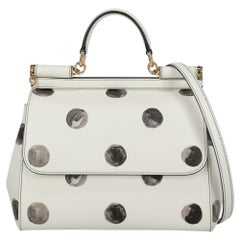 Dolce & Gabbana Women's Handbag Sicily Grey/White Leather