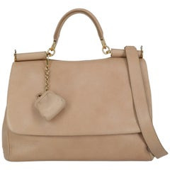 Dolce & Gabbana Women's Sicily Beige Leather