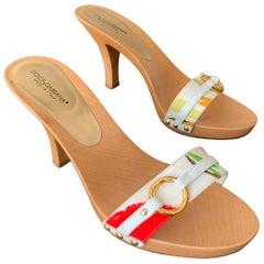 Dolce & Gabbana Wooden Slides Size 38.