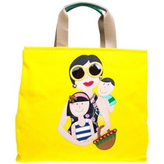 Dolce & Gabbana Yellow Canvas and Leather Maria Shopper Tote