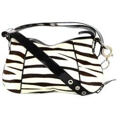 Dolce & Gabbana Zebra Pony Hair Bag W/ Adjustable Strap